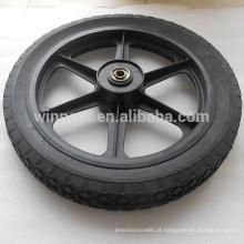 Roda de borracha de roda de rodas semi-pneumática de rodas de raio de 14 polegadas para carrinho