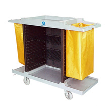 ergonomically designed handle easy-control small and large size guest room service cart for hotel deliver food goods and garbage