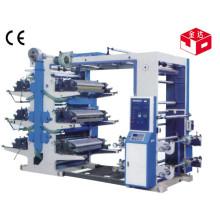 Máquina de impresión flexográfica de seis colores de alta calidad