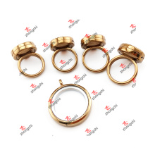 Alloy Stock Supply Floating Lockets / Glass Living Locket Ring (SFL51024)