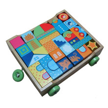 Educational toy building blocks cart for kids