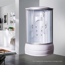 Cabina de ducha de acrílico de 900 * 900 mm con forma de sector