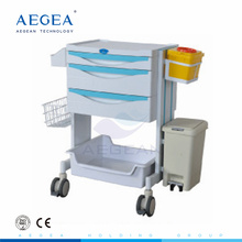 New arrival AG-MT014 ABS material nursing medical instrument trolley