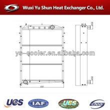 Auto peças sobressalentes intercooler / auto tanque radiador / água refrigeração trocador de calor fabricante