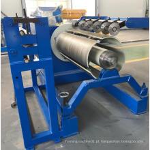 Zt desbobinador manual e hidráulico de 10 toneladas de aço uncoiler máquina