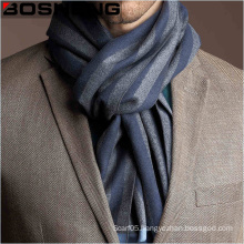 Men′s Jacquard Woven Wool Scarf with Block Stripes