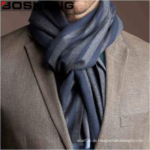 Männer Jacquard gewebt Wolle Schal mit Block Streifen