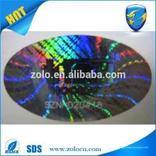 Adhesivo fuerte Etiqueta engomada holográfica pegajosa permanente del arco iris / etiqueta engomada del laser del brillo