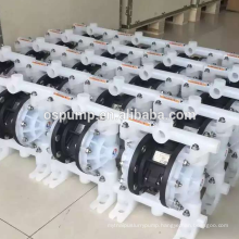 plastic and stainless steel diaphragm pump air actuated pneumatic double diaphragm pump