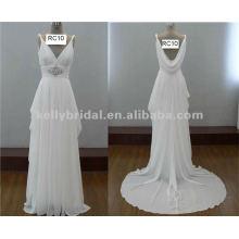 Estilo da irmã de Kate, chiffon de grande qualidade importado do vestido de noiva em chiffon da Coréia