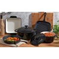 5 Pieces Enameled Cast Iron Parini Cookware Set Choice of Color