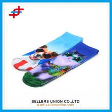 Les plus récentes chaussettes de polyester pour animaux teen chaussettes chaussettes d'impression de sublimation personnalisées