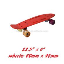 """Skate de forma de peixe de 22 """"* 6"""" com plataformas pp e rodas pu para venda"""
