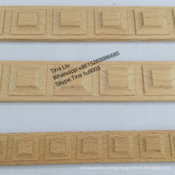 Home Decoration Beech Solid wood Carved Lambs Tongue Moulding