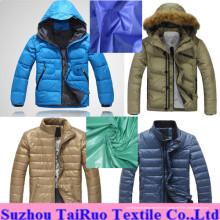 Tissu de taffetas en nylon imperméable et calandré pour une veste en duvet