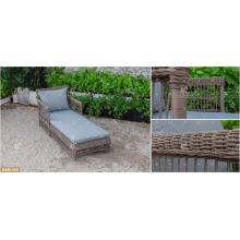 DEVON COLLECTION - 2017 Bestseller Outdoor Gartenmöbel Poly PE Rattan Sonnenliege mit Beistelltisch heißestes Design