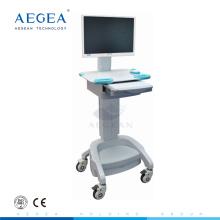 AG-WT002A Krankenhaus verwendet mobilen Arbeitsplatz mit höhenverstellbaren IT-Computerwagen
