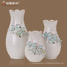 3D flower new handmade indoor decorative porcelain table vase
