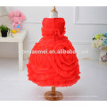 Новая мода детские девушки 3D цветок девушка платье 2017 горячая распродажа красочные новая модель девушка платье для свадьбы и партии