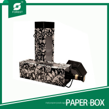 Caja de regalo de vino de cartón rígido de lujo con ventana
