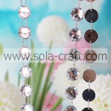 Faceted Round 25mm Diamond Cut acrílico Crystal Bead Garland
