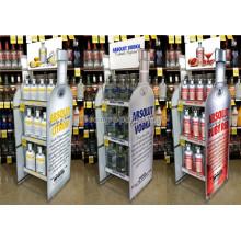 Multifuncional Knock Down Tienda de licor personalizado Almacenamiento de forma de botella libre Almacenamiento Soporte de botella de vino