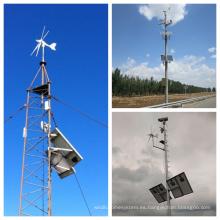 Sistema híbrido solar del viento de la fuente de China para supervisar