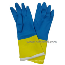 Bi-Color Gloves Neoprene Latex Gloves Safety Industry Work Glove