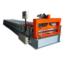 Precios de fábrica que hacen el material de construcción Panel de pared Metal que teje el rollo de azulejo acanalado que forma la máquina para la venta