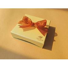 Luxury Custom Logo Necklace Jewelry Box with Ribbon
