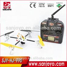 QUENTE E NOVO! HJ990 2.4G 4 Canal RC Quadcopter UFO câmera de plástico ABS