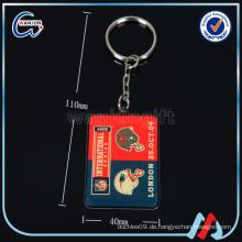 Kundenspezifische leere Visitenkarte Epoxy Schlüsselring