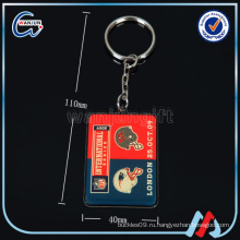 Пользовательские пустые визитки эпоксидное кольцо для ключей