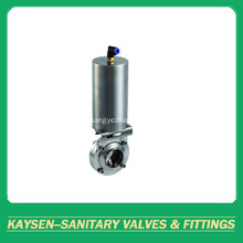 DIN Sanitary Pneumatic Butterfly Valves Weld end