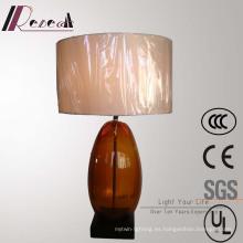 Antique Hotel Decorative - Lámpara de mesa de noche de vidrio de bronce
