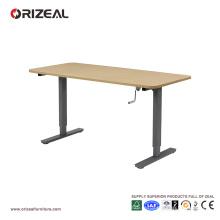 Bureau debout réglable de taille d'Orizeal, bureau ergonomique de s'asseoir au stand, station de travail debout (OZ-ODKS001)