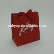 fancy Custom made elegant small jewelry paper bag