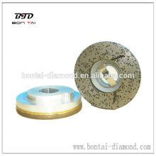Piedra moliendo la rueda bloqueo del caracol para el pulido del borde