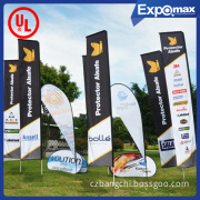Outdoor Advertising Promotion Customer Car Nation Retractable Pull up Roll up Pop up Sail Beach Feather Teardrop Flying Flag Banner
