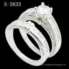 Fashion Combination 925 Silver White Zirconia Ring (S-2633. JPG)