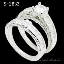 Moda Combinação 925 Anel de Prata de Zircônia Branca (S-2633. JPG)