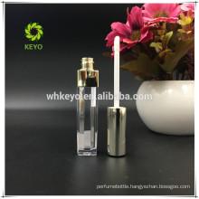 custom empty plastic square lip gloss tubes liquid lipstick container aluminum cap