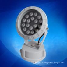 DMX rgb led flood lights 18W DC 24V pour lampe d'éclairage de décoration extérieure