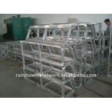 Divers châssis en aluminium soudé