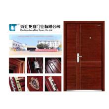 Puerta blindada de acero y madera con certificado CE
