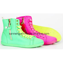 PVC Injection High-Cut Color Shoes for Girl/Women