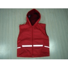 Yj-1127 Safety Reflective Red Rain Vest Jacket Fashionable Rain Coats