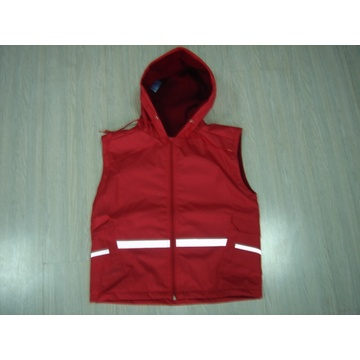 Yj-1127 Safety Reflective Red Rain Vest Jacket Fashionable Rain Coats