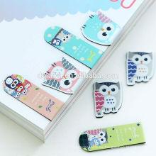 Venta al por mayor Creative Craft Paper Bookmark con Magnet / Super Cute Cartoon Book Marks