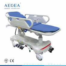 AG-HS010 dos pcs ABS barandillas hospital camilla dimensiones para la venta hospital camilla dimensiones